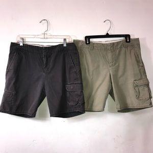 2 Pairs GAP Chino Shorts 12